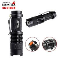 10000LM CREE XM-L T6 LED Zoomable Flashlight Torch Lamp Light 18650/AAA 5Mode #M
