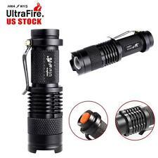 2pcs 8000Lumens LED Zoom Adjustable Focus Mini Torch 14500 AA Flashlight Lamp TL