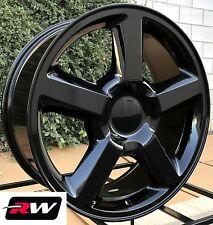 "20"" inch Wheels for Chevy Silverado LTZ 5308 20x8.5"" Gloss Black Rims 6x139.7"
