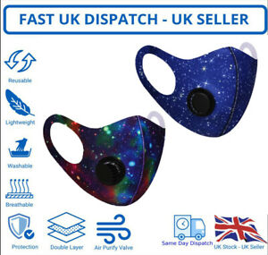 Adult Unisex Face Mask Galaxy Mouth Protection Cover Washable Reusable Printed