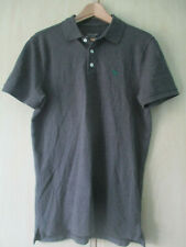 mens ABERCROMBIE & FITCH GREY COTTON POLO SHIRT SIZE MEDIUM