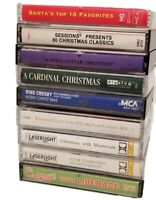 LOT OF 10 CHRISTMAS CASSETTE TAPES ~ MANTOVANI TCHAIKOVSKY BING CROSBY LIBERACE