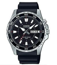 Casio MTD-110-1AV  Men's 'Super Illuminator' Black Dial Quartz Watch MTD110