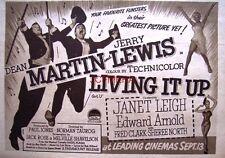 LIVING IT UP Original 1954 Film Advert - Dean Martin Movie Ad