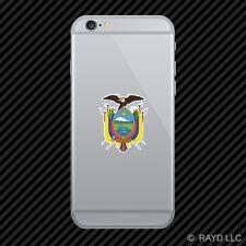 Ecuadorian Coat of Arms Cell Phone Sticker Mobile Ecuador flag ECU EC