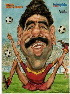 Toninho Cerezo Roma 1985 Caricatura di Walter  Molino