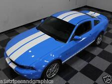 "2011 2012 2013 2014 Mustang 10"" Plain Rally stripes Stripe Graphics GT LX  GT500"