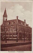 Netherlands Heerenveen - Postkantoor circa 1930 sepia unused postcard