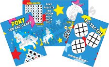 Pack of 12 - Pony Fun and Games Activity Sheets - Horse Party Bag Books Fillers
