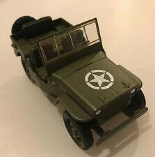 WILLYS JEEP U.S. ARMY Diecast 1:32 Scale Model Free Post UK Marines WW2
