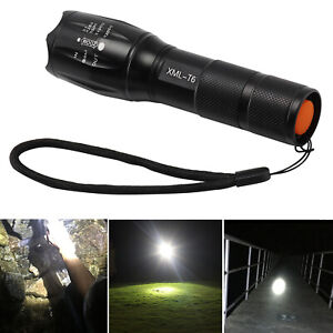 Waterproof Tactical 8000LM XML-T6 Zoomable LED Flashlight Torch Lamp Light BOX