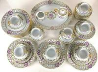 Luxury Haviland French Limoges, Louveciennes China Dinner Sets, Excellent