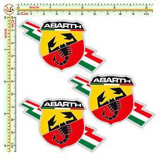 abarth adesivi sticker italian flag auto moto casco Fiat 500 fulmine pvc 3 pz.