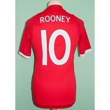 England Away 2009-2010 Wayne Rooney Football Soccer Jersey Shirt Small