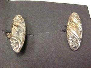 Cuff Links-Vintage 10K Yellow and White Gold -Tested #14868C
