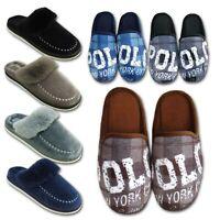 Mens Fleece Lined Mule Clog Winter Lounge Warm Slippers Shoe Size UK 7 8 9 10 11