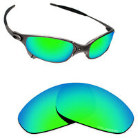 Hawkry SaltWater Proof Green Replacement Lenses for-Oakley Juliet -Polarized