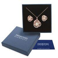 Elegante parure oro Swarovski Element originale G4Lov perla collana donna regalo