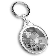 Porte-clés Circle-BW-Online Shopping chariot drôle #43307