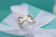 AUTHENTIC Tiffany & Co. Double Loving Heart Ring Size 4.5 (#356)
