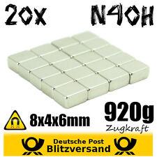 20x Neodym Magnet Quader 8x4x6mm - Whiteboard Magnete Magnetic Magneten basteln