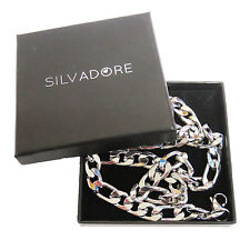 Silvadore - FIGARO Silver Stainless Steel Men's Chain 20'' - Cardboard Box