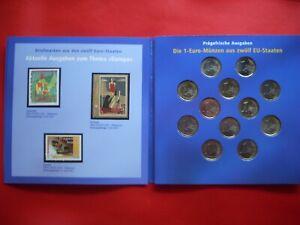 """€ -kms """" Der """" 12x 1€ + Stamps IN Gatefold Folder"""