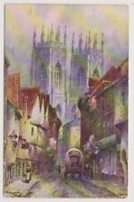 Yorkshire (North) postcard - Petergate, York by Tom Dudley - P/U 1905 (A430)