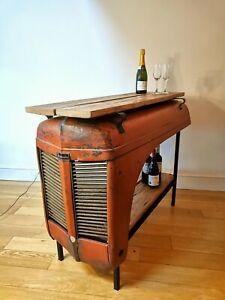Vintage Tractor Table/Bar Hardwood furniture Industrial Steel Retro Rustic Unit