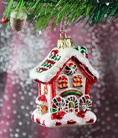 Hexenhaus, Zuckerstangenhaus Weihnachtbaumschmuck Christbaumschmuck Lauscha 57E2