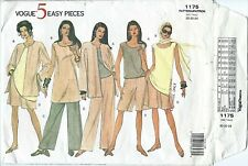 Vogue 1175 sewing pattern JACKET TOP TUNIC SHORTS PANTS sew EASY sizes 20-22-24