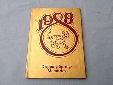 BOOK YEARBOOK ANNUAL DRIPPING SPRINGS MEMORIES ELEMENTARY SCHOOL 1988 TEXAS TX