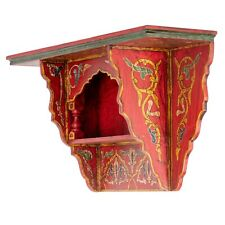 Painted Moroccan shelf, Wall Shelves Floating Shelves Red Brick, Rustic Floating