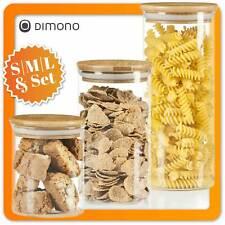 Dimono Vorratsglas aus Glas Vorratsgläser Vorratsdose Glasbehälter mit Deckel