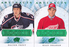 12-13 Artifacts Dalton Prout /99 Rookie Emerald Green Blue Jackets RC 2012