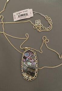 New Kendra Scott Reid Macrame Necklace In Abalone $98.00