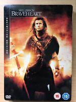 Mel Gibson Braveheart ~1995 William Wallace Epic Raro 2-Disc DVD Steelbook