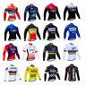 Mens Thermal Cycling Jersey Long Sleeve Breathable Jacket Bike Bicycle Shirt