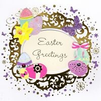 Easter Greetings Happy Easter Greeting Card Handmade Talking Pictures Cards