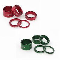 KCNC Hollow Vélo Entretoise de Direction / Spacer 3-5-10-14-20mm - Vert / Rouge