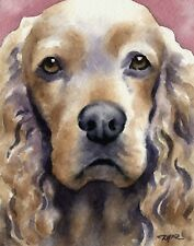 COCKER SPANIEL Watercolor Painting Dog ART 11 X 14 Print by Artist DJ Rogers