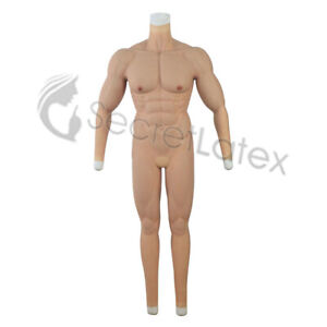 SILICONE RUBBER MALE MAN BODY FORM SUIT FAKE MUSCLE MUSCULAR REALISTIC TORSO CD