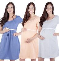 Mija / 2 in1 Maternity & nursing cotton nightdress nightshirt nighty shirt 7118