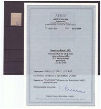 H21002 DR- Dienstm. Mi. Nr. 65  gestempelt  ATTEST BPP