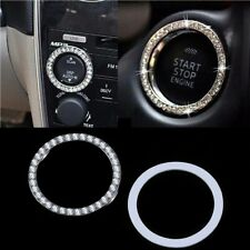 Start Switch Button Decorative Diamond Ring Car Suv Bling Decorative Accessories