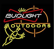 "New Bud Outdoors Pheasant Hunting Neon Light Sign 24""x20"" Beer Bar Artwork"
