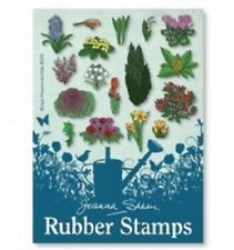 Joanna Sheen Rubber Stamps WINTER FLOWERS FOR POTS JS378