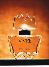 PUBLICITE ADVERTISING 064  1973  VIVRE   parfum MOLYNEUX