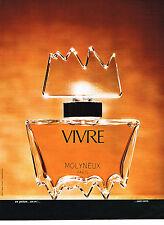 PUBLICITE ADVERTISING 064  1973  VIVRE   parfum MOLYNEUX