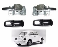 VW BUG SUPER BEETLE GHIA BUS T3 CHROME PAIR INNER DOOR HANDLE 2pcs Black Cover